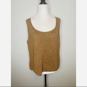 St. John Vintage knit Tan Tank